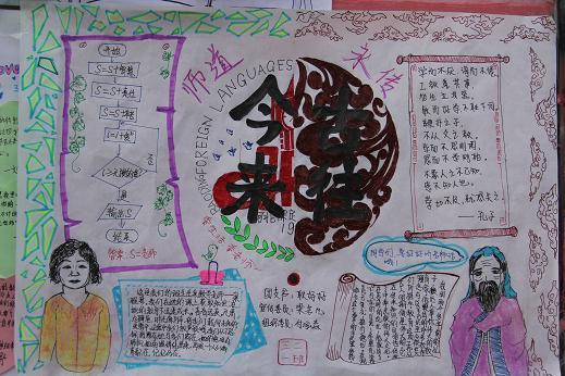 师恩难忘,难忘师恩,亚洲必赢举办教师节手抄报汇展图片