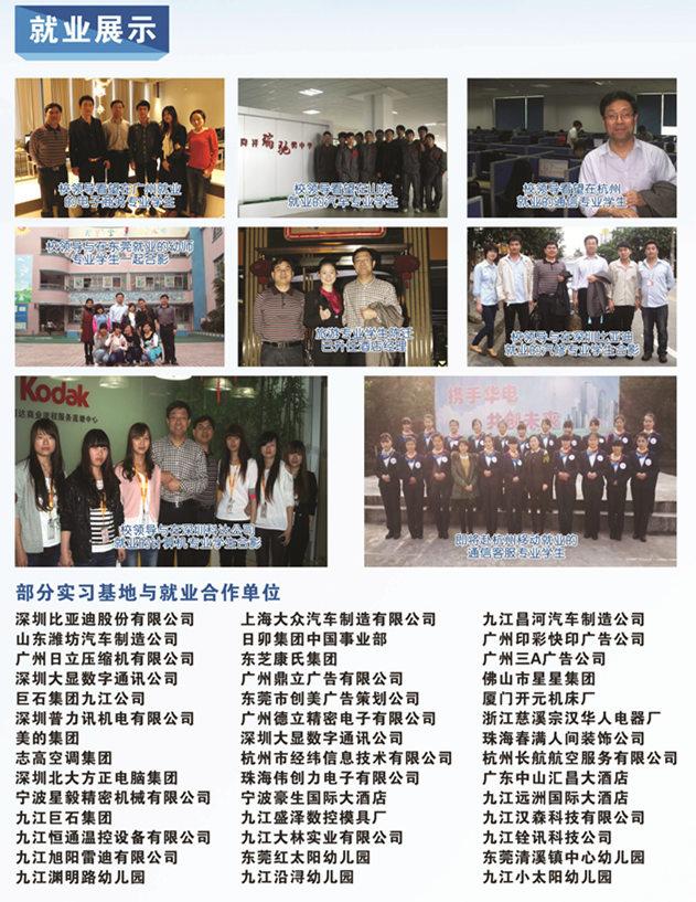 九江轻化技校毕业学子就业展示