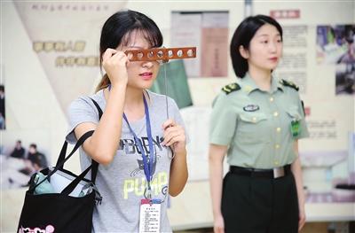 天津市女兵征集体检工作全面展开