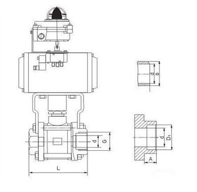 气动球阀结构图
