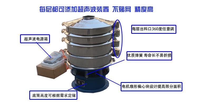旋振筛设备每层可添加超声波配置