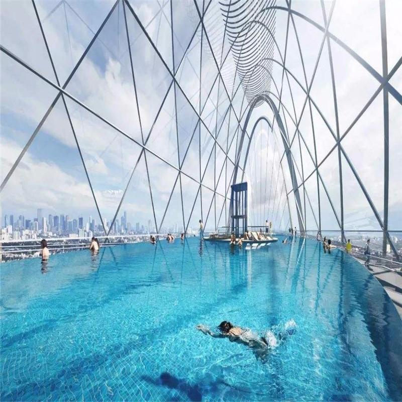 无边际游泳池设计,亚克力游泳池工程