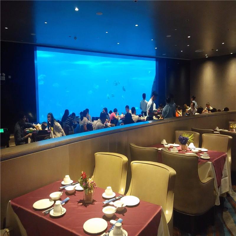 透明海底餐厅,亚克力弧型餐厅