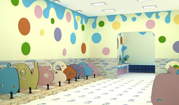 幼儿园公共洗手间隔板