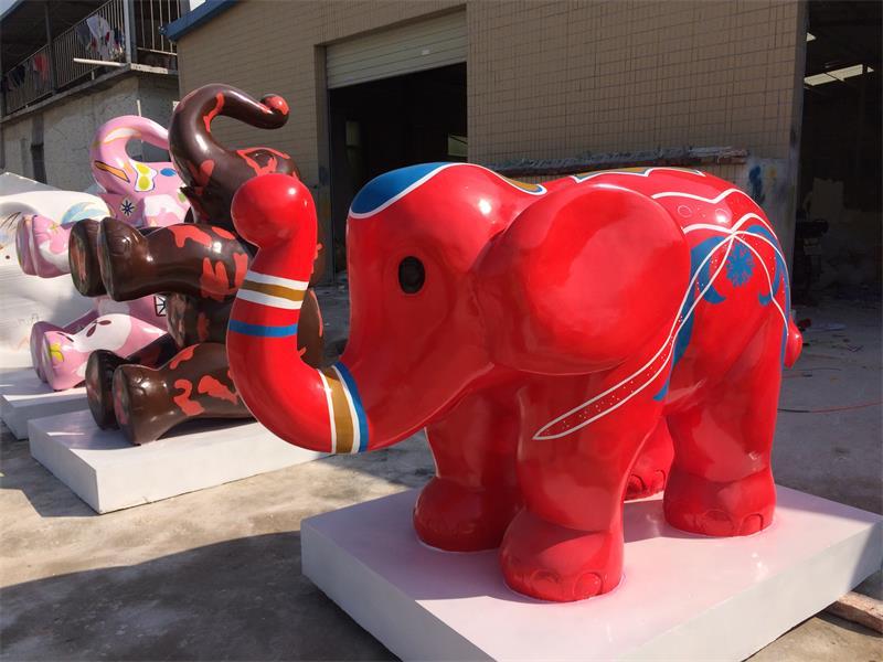 大象动物玻璃钢雕塑.jpg