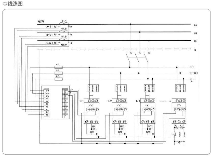 GGJ低压无功功率补偿装置线路图.jpg