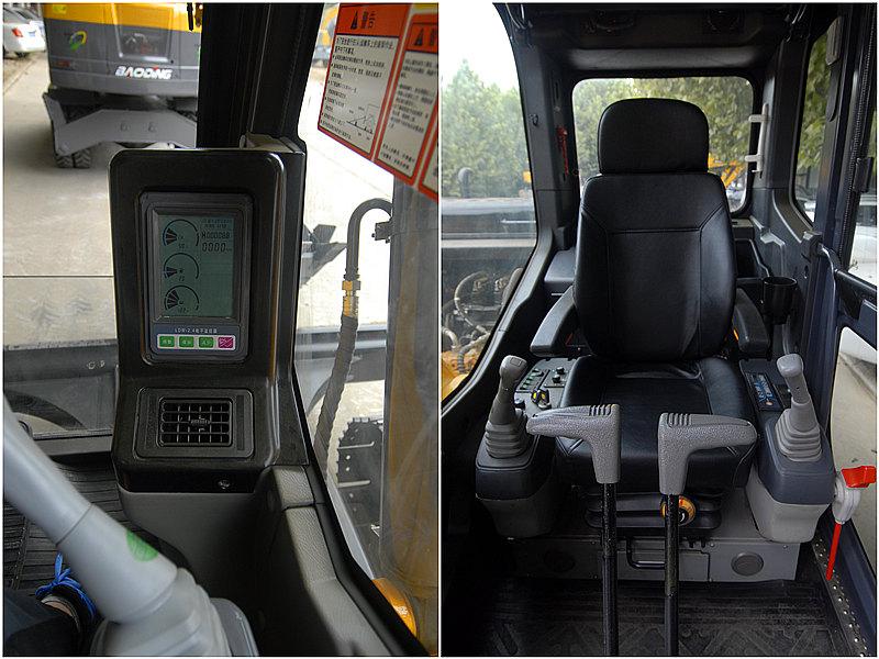 宝鼎80挖掘机采用大空间高强度豪华驾驶室