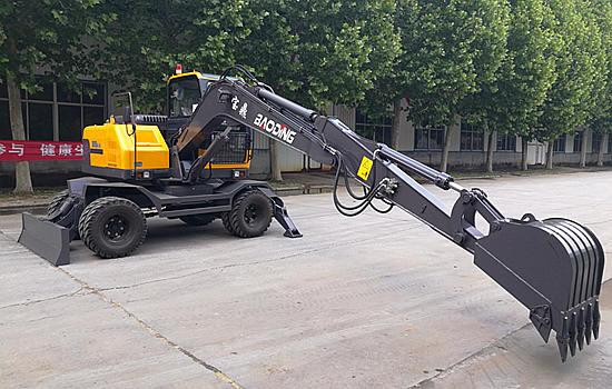 宝鼎95新款轮式挖掘机优化产品工作装置