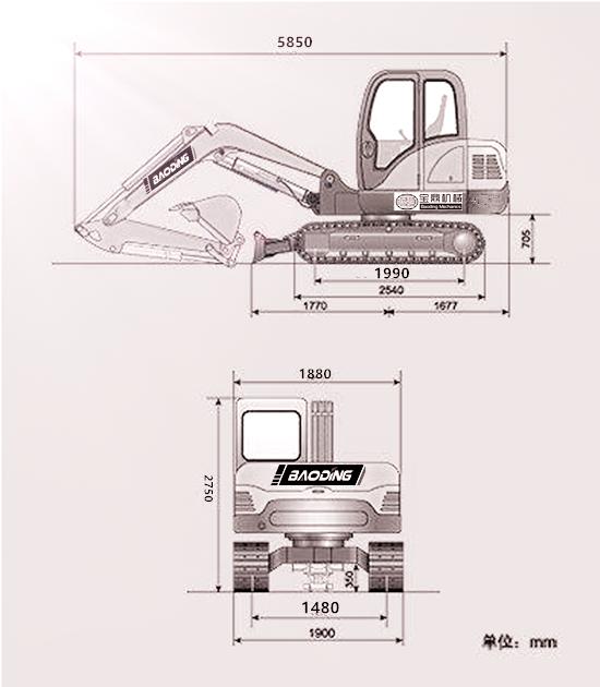 履带60挖掘机参数图.png