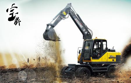 山东宝鼎品牌专业生产优质小型轮式挖掘机