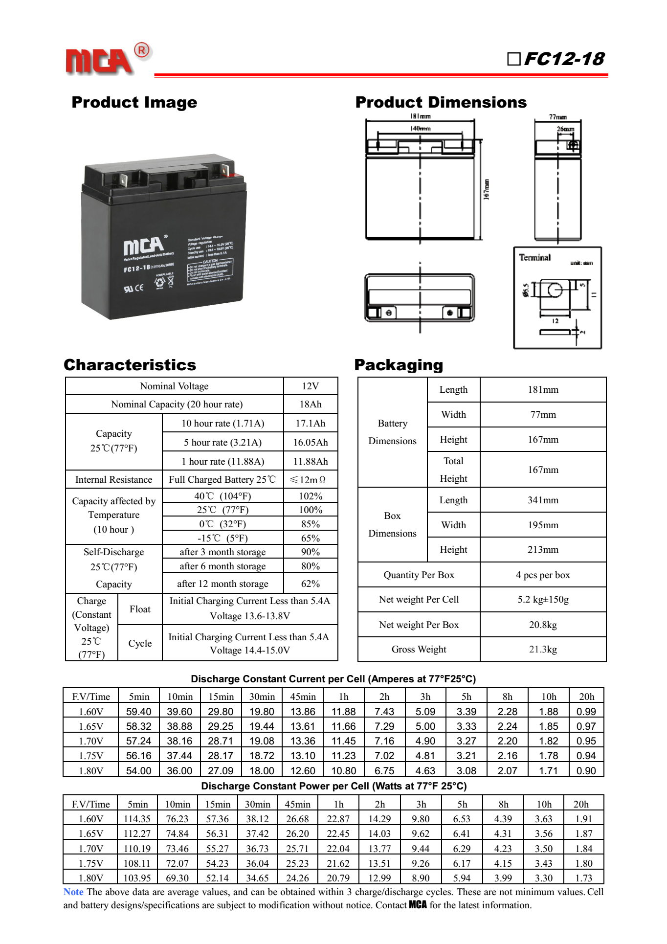 MCA蓄电池FC12-24