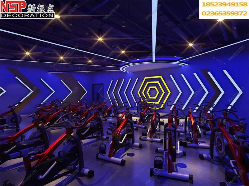 重庆朗恩健身装修设计案例,健身会所装修案例,健身房装修设计公司