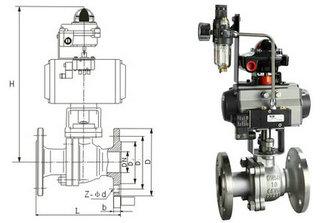 不锈钢气动球阀结构图