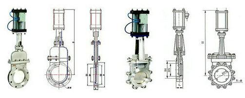 气动对夹式刀闸阀结构图