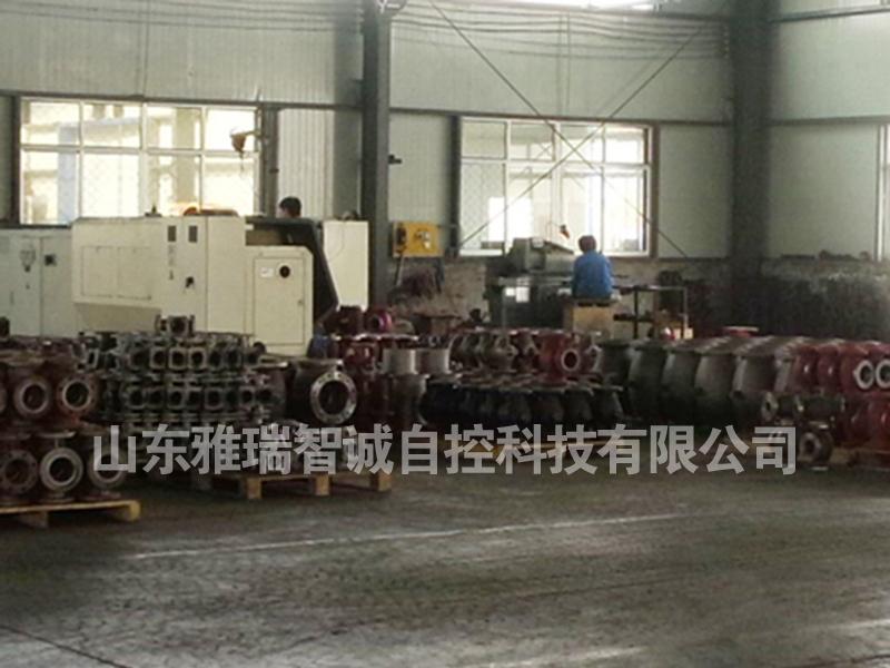 铸钢调节阀生产现场