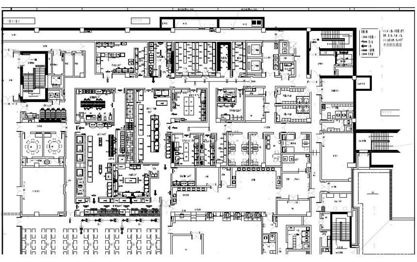 醫院食堂廚房設備平面布置圖.jpg