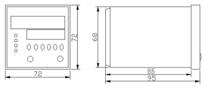 附图:H7JC2-6E1R-M485型智能modbus通讯计数器安装尺寸