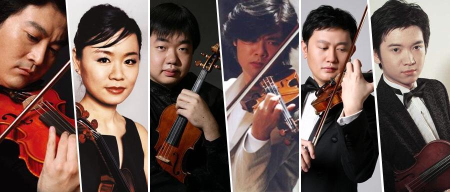 著名小提琴演奏家吕思清 黄滨 宁峰 黄蒙拉 陈曦 刘霄 齐奏《查尔达什舞曲》,流畅华丽!
