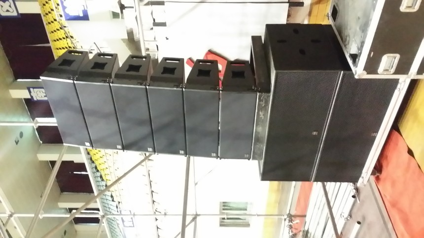 蘭州鐵路局第十一屆職工運動會閉幕式燈光音響設備