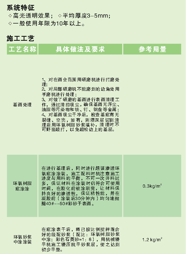 重庆彩砂环氧树脂地坪涂装