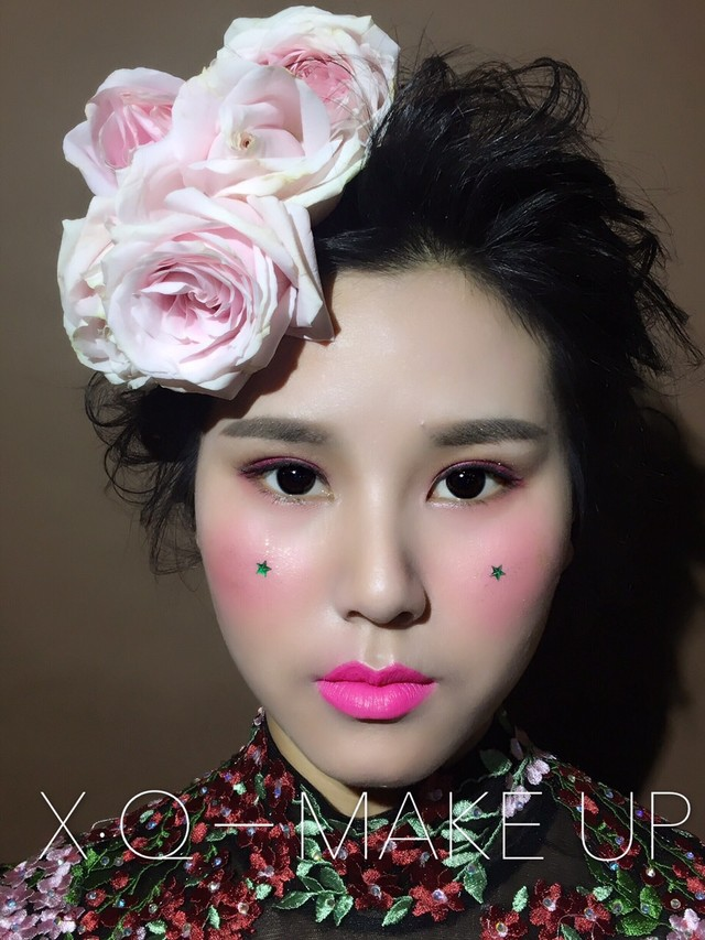 妆前妆后对比图[玫瑰]