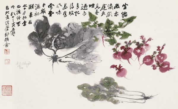 张大千,百财图,丝网版画,29/125,42cm×69.5cm.jpg