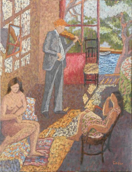 克雷芒汀娜·奥蒂耶 《博尔默三重奏》 布面油画 50x65cm
