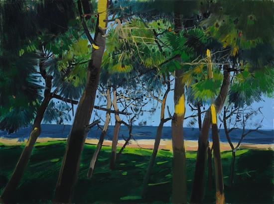 李江峰 《松语七》 60×80cm 布面油画 2017年