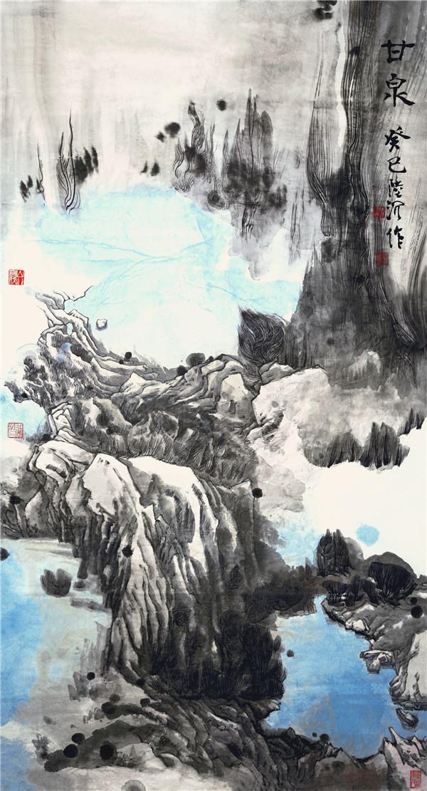 2 陆沉,甘泉 180x97cm 2013年.jpg