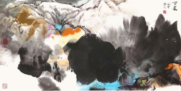 12 陆沉,家园系列(之五-《甘泉》)69×138cm 2016.jpg