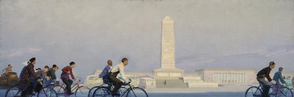 晨 李秀实 101×301cm 布面油画 1961 中央美术学院美术馆藏.jpg