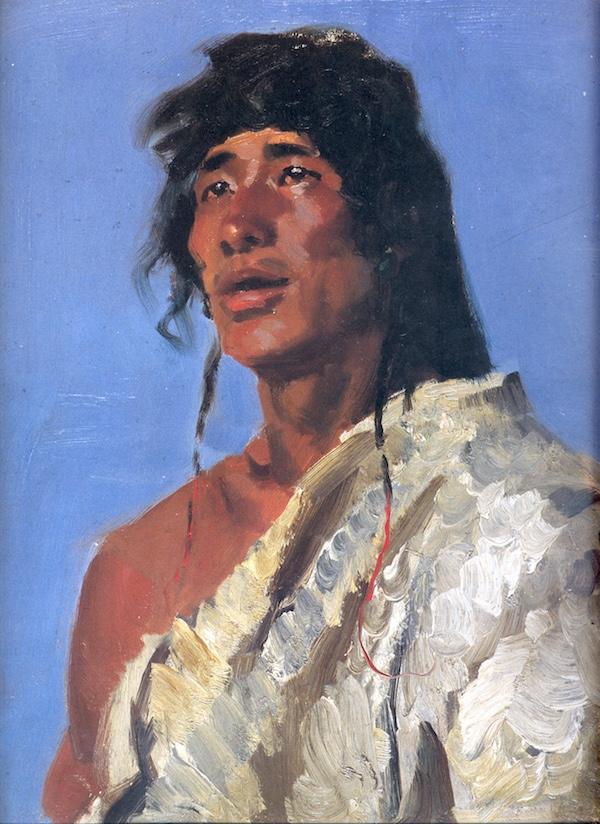 山歌 董希文  53×40cm 布面油画 1961.jpg