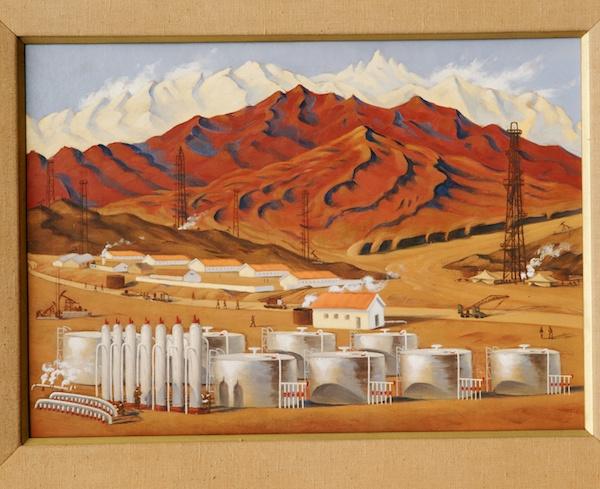 油站朝晖 许幸之 44×62cm 木板油画 1962 中央美术学院美术馆藏.jpg