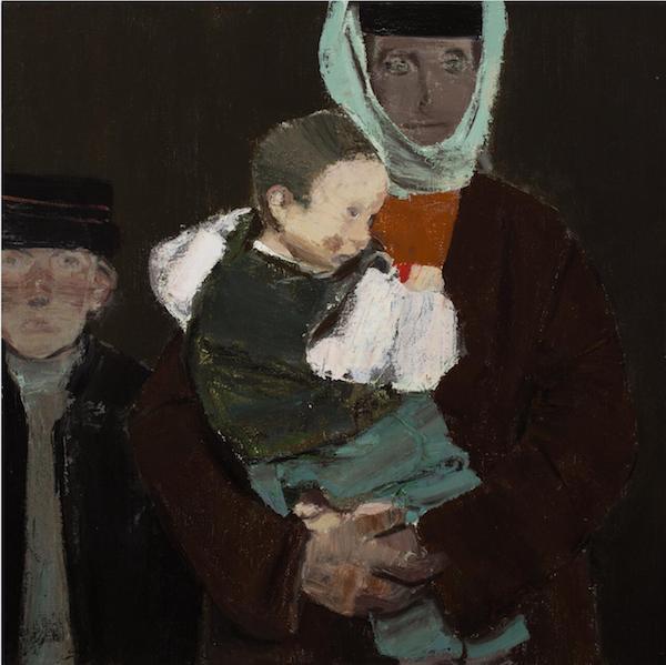 《母与子》80-丙烯、油彩80cm2014年.jpg
