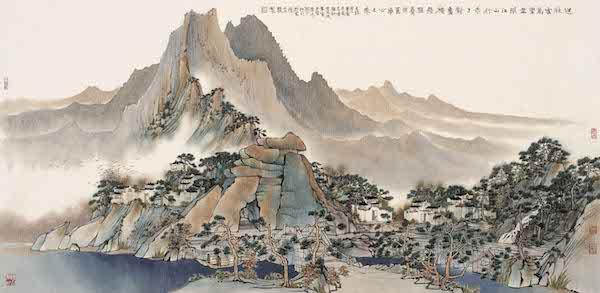 □方骏秋云万里67cm×138cm中国画.jpg