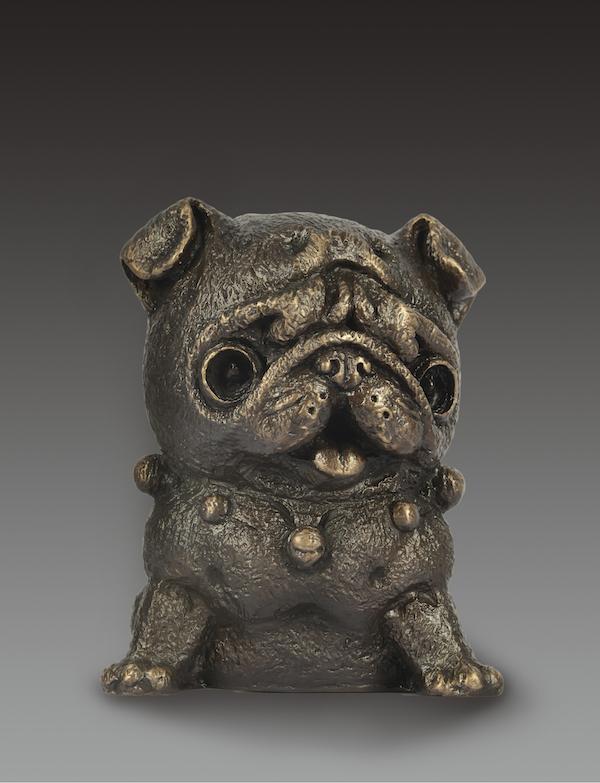 雕塑:《狗》,14x14x17cm,青铜,2018年.jpg