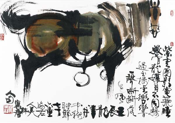 绘画:《马》,99x70cm,宣纸,2012年.jpg