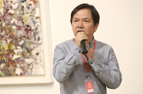 6.本次举办个展的艺术家王新福先生致辞.JPG