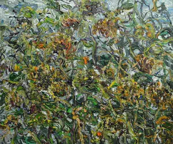 2.《冷水向日葵2号》Cold water Sunflower No. 2 2015年9月150cmX180cm布面丙烯Acrylic on canvas(参加法国2016年第108届巴黎秋季艺术沙龙展 (1).jpg