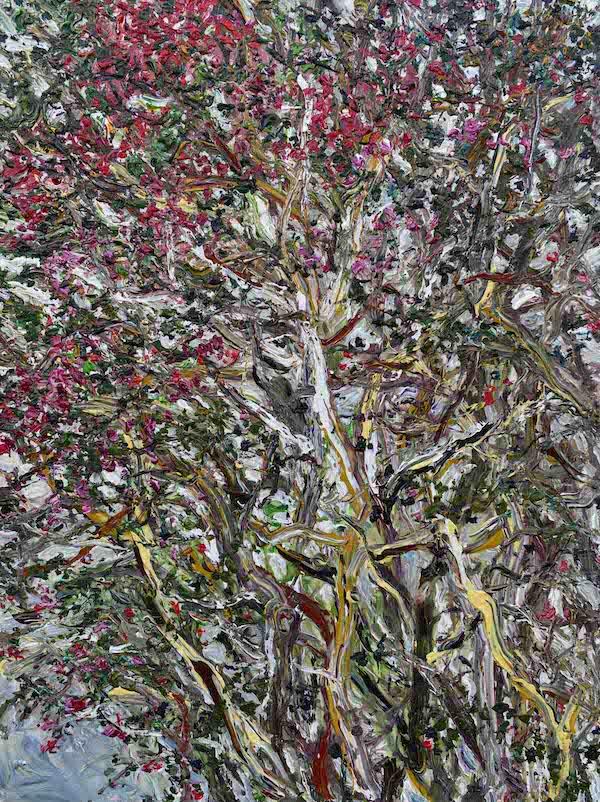 4.《紫薇蔓藤》Crape Myrtle Vine 2014年7月 200cmX150cm 布面丙烯 Acrylic on canvas(参加法国2016年第109届巴黎秋季艺术沙龙作品).jpg