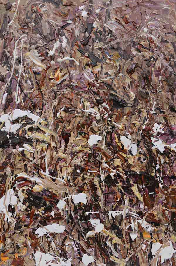 6.《冬荷碎语》Whispering of Winter Lotus 2015年11月91.4cmX60.9布面丙烯 Acrylic on canvas.jpg
