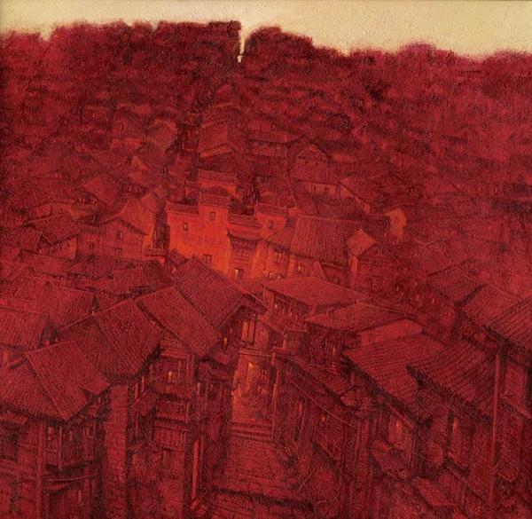 红色故里133x132cm布面油画.jpg