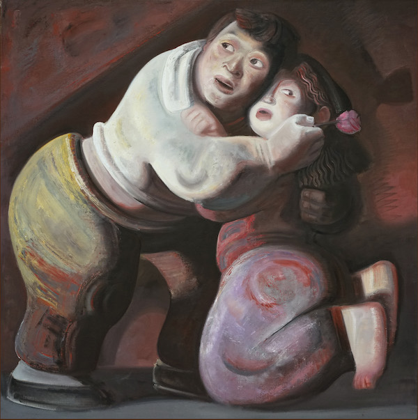 宫立龙 Gong Lilong, 好 It's ok, 布面油画 oil on canvas,100x100cm,2007.jpg